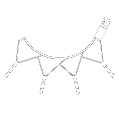 The Underpinnings Museum - c. 1950s Overlap Suspender Belt