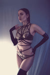 Hecate Halterneck Satin Harness - In stock & ready to ship