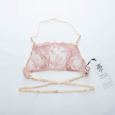 SECOND - Marianne French Lace Bandeau Bralet - UK 8