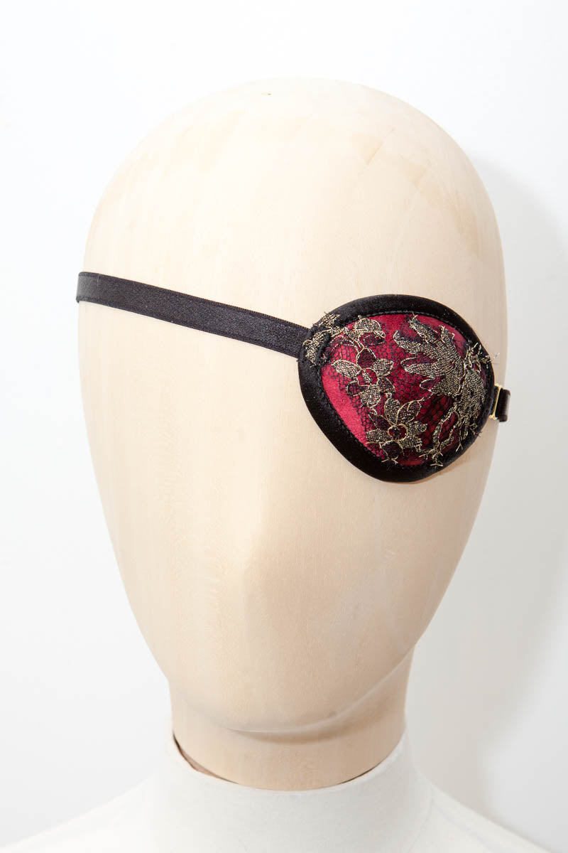 'Meilan' Silk & Lace Eye Patches