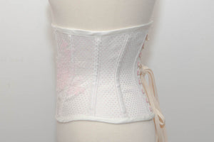 "SAMPLE Spot Broche & Hand Painted Lace Cincher - 20"" Waist"