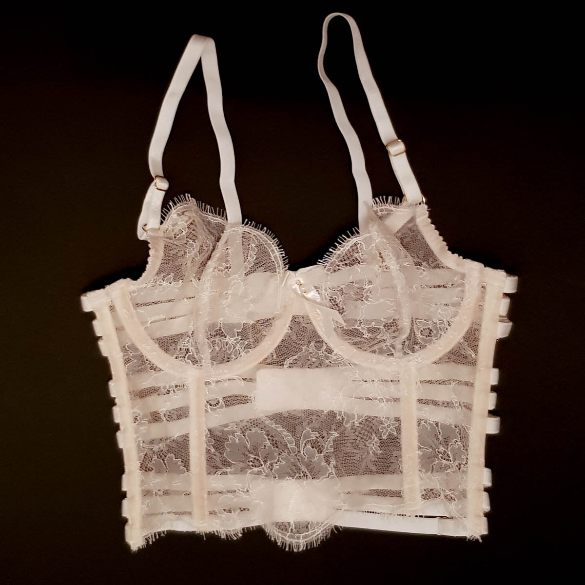 SAMPLE Longline French Chantilly Lace Bra - 28DD/30D/32C