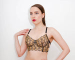 Star Embroidered Longline Bra - Version 2 - Size KL 8 - 30D/32C/34B ONLY