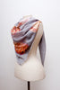 Roses Grey Silk Modal Scarf With Eyelash Hem