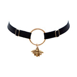 Mjød Satin Elastic & Bee Charm Choker - MADE TO ORDER