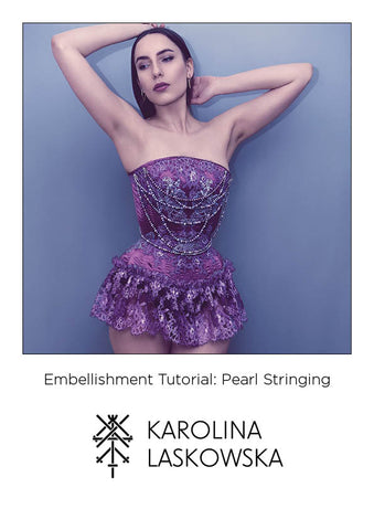 Tutorial: Pearl Stringing Embellishment
