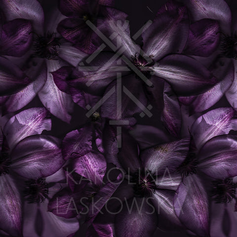 Dark Clematis Silk Modal Scarf With Eyelash Hem