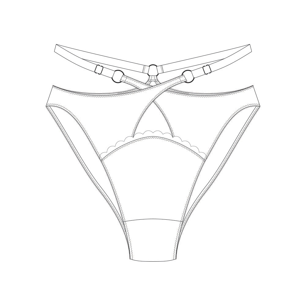 Custom Ara Crossover Harness Briefs - MADE TO ORDER