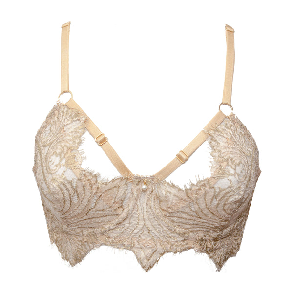 Cassiopeia Redux Champagne Bra - MADE TO ORDER