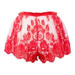 Lønn Red French Lace Tap Pants