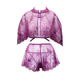 Natasza Plum Hand Dyed Vintage Lace French Knickers Tap Pants