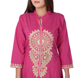Vedana Women's Cotton Embroidered Kurti