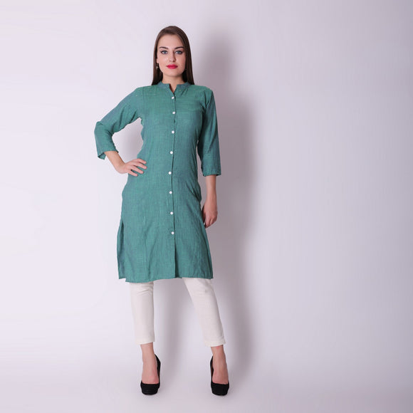 Vedana Rayon Button Down Kurta