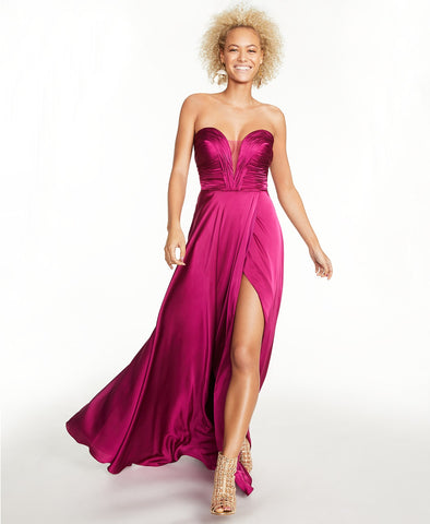 B Darlin Sweetheart Ruched Gown (SKU101)