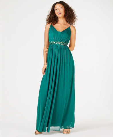 Teeze Me Beaded Grecian Gown (SKU161)