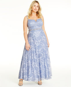 Say Yes to the Prom Trendy Plus Size Lace & Sequin Gown (SKU35)
