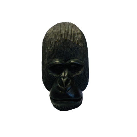 Hand carved wood Gorilla Mask, made in Uganda