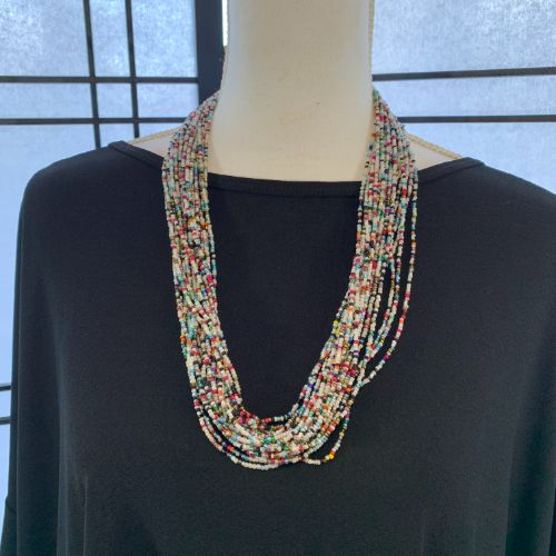 Handmade Ugandan Seed Bead Necklace
