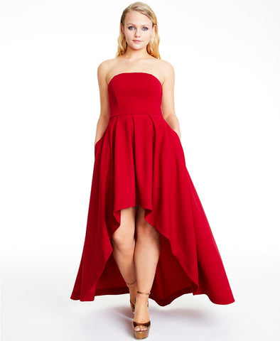 Speechless Strapless High-Low Dress (SKU75)