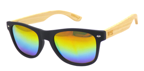 Moana Rd sunglasses - Black Frame with Coloured lens #3008