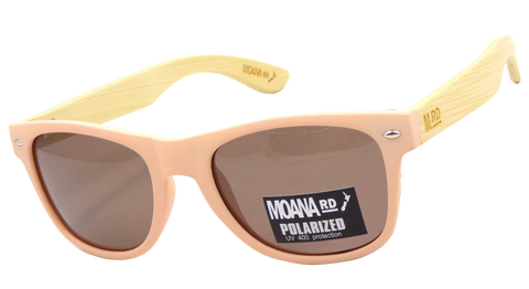 Moana Rd sunglasses - Pink Frame with Brown Lenses #459