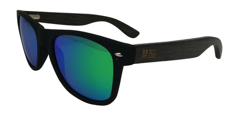 Moana Rd sunglasses - Dark Frame with Green Reflective Lens #3000