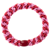 Image of Kknekki Red-Bubblegum stripe from Kknekki original hair ties