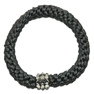 Image of Kknekki Rhinestone Charcoal from Kknekki original hair ties