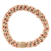 Image of Kknekki Peach Coral-Beige glitter stripe from Kknekki original hair ties