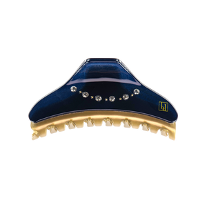 Image of Gold claw 7cm Navy swarovski from Bon Dep Icons