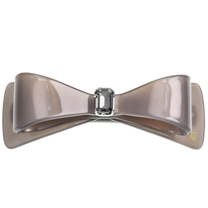 Image of Wide Bow clip large Swarovski Light Grey from Bon Dep Icons