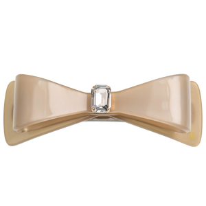 Image of Wide Bow clip large Swarovski Light beige from Bon Dep Icons