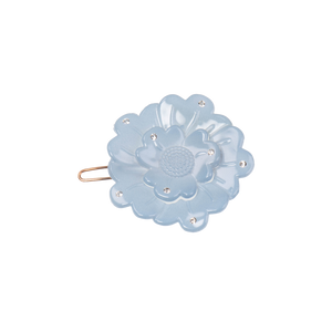 Image of Small flower clip Swarovski light blue from Bon Dep Icons