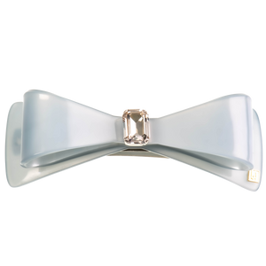 Image of Wide Bow clip light blue handmade from Bon Dep Icons