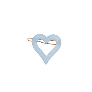 Image of Heart clip Light blue from Bon Dep Icons