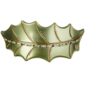 Image of Oak leaf handmade Forrest green from Bon Dep Icons