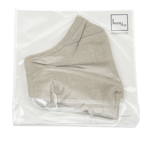 Image of Facemask mw Belgian linen Natural from Bon Dep Essentials