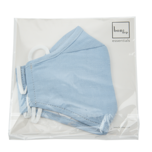 Image of Facemask mw Belgian linen Sky from Bon Dep Essentials