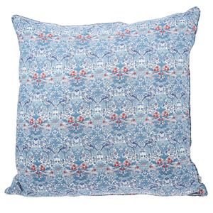Image of Pillow cover mw Liberty StrawberryThiefBlue from Bon Dep Essentials