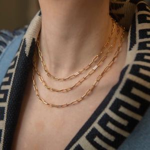 Thick chain necklace 40 cm