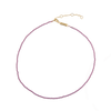Image of Emilia Pearl necklace Purple from Emilia by Bon Dep