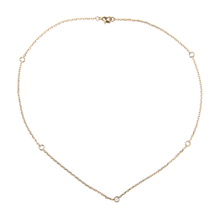 Image of Emilia Gold necklace with rings from Emilia by Bon Dep
