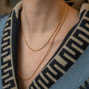Twisted gold necklace 60 cm