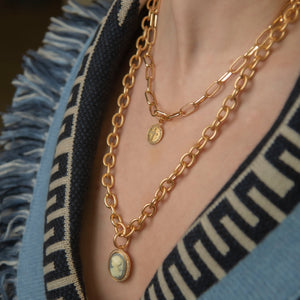 Matte chain necklace luxe 60 cm