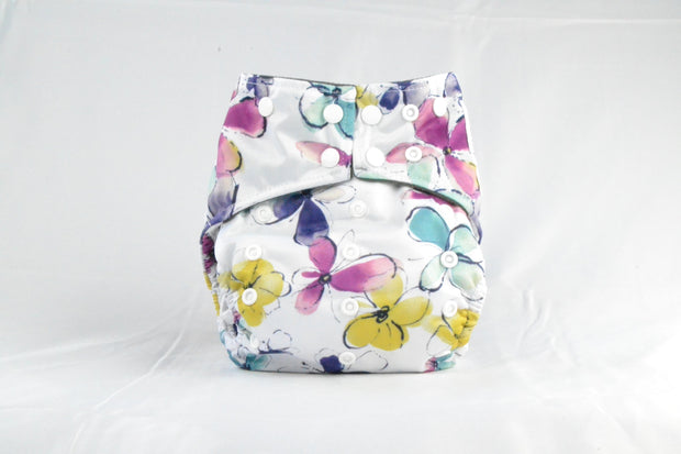 EARTHLIE CLOTH DIAPER - PASTEL FLOWERS