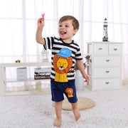 FASHION INFANT BABY BOY STRIPE KAWAI CARTOON HOODED WARM CLOTHES