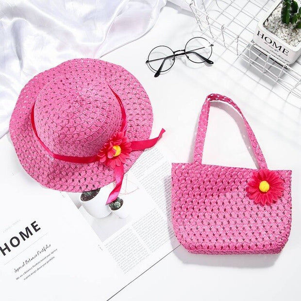 HOT SELLING SUMMER GIRLS KIDS HAT HANDBAG
