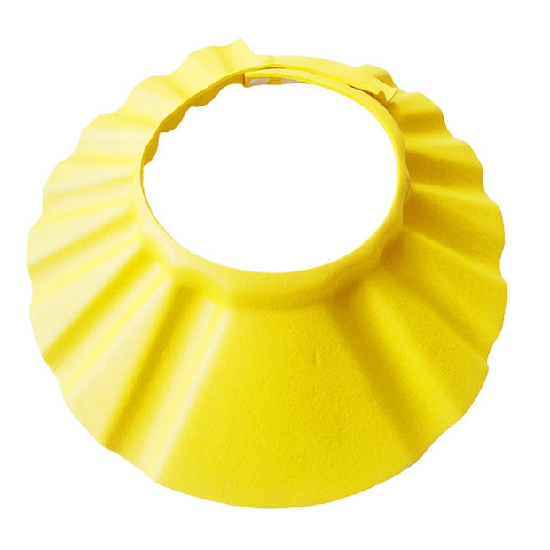 BABY SHOWER CAP ADJUSTABLE SHIELD WATERPROOF EAR EYE PROTECTION