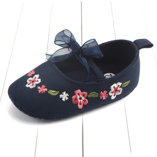 NEWBORN BABY GIRL FLORAL PRINCESS SHOES