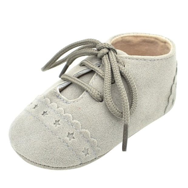 KIDS SOLE SOFT MOCCASIN SUEDE LEATHER CRIB SHOES
